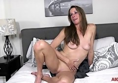 mature mommy talks dirty for the camera