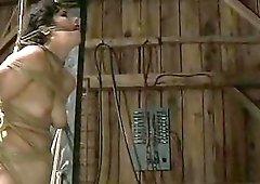 Tied up bondage slut endures punishment and humiliation BDSM porn