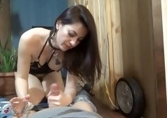 Wet-Kelly - Mistress fuck face slave smoking and eating cum