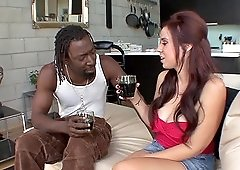 Interracial one on one with screaming Rachel Solari