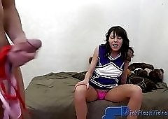 CFNM  Dickflash with a Bratty Coed Cheerleader and SPH
