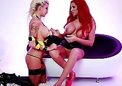 House of pleasure with a burning hot redhead called Syren Sexton