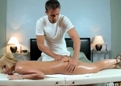 Nice buxomy Aleska Diamond having a real massage sex