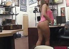 Astonishing babe Layla London fucks in the pawnshop