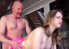 Young Candice gets hard fucked by her gym trainer