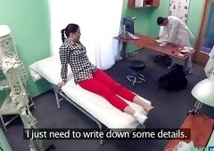 Sexy Babe Gets Help From The Pervert Doctor