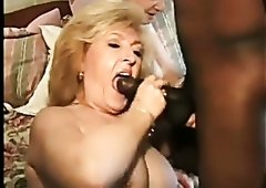 Sexy and voracious granny Kitty Foxx bounces on her lover's BBC like a champ