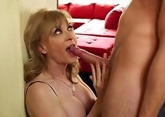 Mature woman is fucking a younger guy