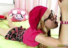 Voodoo involves sassy blonde chick in glasses Kennedy Kressler in foreplay