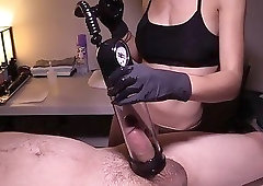 Sexy amateur masseuse takes her lovely toy