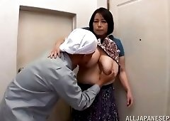 Mature boobs squeezed