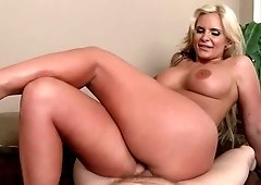 Milf with massive tits ass kneaded then fucked