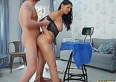3some doggystyle skinny massage palor