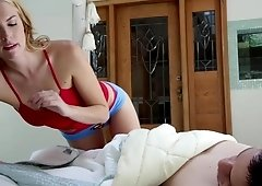 Cosima Dunken rides dad's buddy until he cums inside her