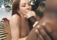 Raunchy redhead Trinity Post will suck her lover's BBC with unbridled passion