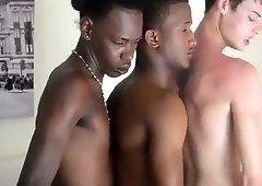 Interracial 3 Twinks