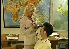 Mature Kelly Trump Teaches Sex (amateur mother mom milf granny teacher student classroom )