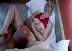 Guy ravishes a blonde whore with his Penis