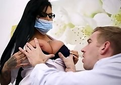 Big titted doctor is fucking her patient