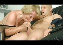 Hot blonde gilf (nipple piercing)