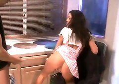 Taylor Rain gets pounded by Trevor Zen and he cums in her twat