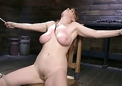 Slutty red haired babe Penny Pax gets her pussy and anus stretched