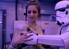 Incredible porn film as a parody of Star Wars movies