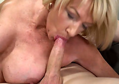 Young neighbor reaches the goal and fucks MILF's pierced vagina
