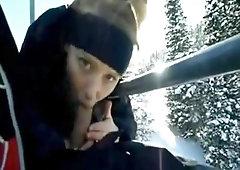 Salami Deep Throating On Ski