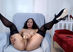 Japanese Domme In Stilettos And Tights Plumbs Cooch