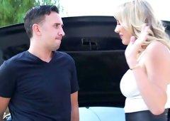 Amazing sex in POV with busty Brett Rossi