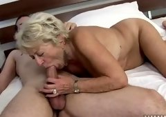 Racy fair-haired experienced female Malya in blowjob video