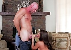 Madison Ivy picks a random guy & fucks it for a dose of sperm