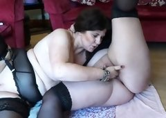 Fat ladies are involvedin a hot lesbian sex