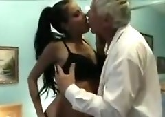 Mouthwatering Grandpa Hires Barely Legal Teen Escort